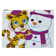 Winter Time Zoo Friends   004 Cosmetic Bag (xxl) by Colorfulart23