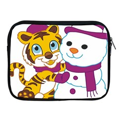 Winter Time Zoo Friends   004 Apple Ipad Zippered Sleeve by Colorfulart23
