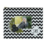 Cosmetic Bag (XL): Black Chevron