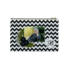 Cosmetic Bag (m):  Black Chevron By Jennyl   Cosmetic Bag (medium)   5tpll5v5d53v   Www Artscow Com Back