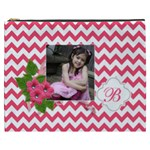 Cosmetic Bag (XXXL): Pink Chevron