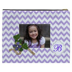 Cosmetic Bag (xxxl): Violet Chevron By Jennyl   Cosmetic Bag (xxxl)   Yp0o0nn45c0b   Www Artscow Com Back