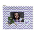 Cosmetic Bag (XL): Violet Chevron