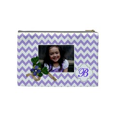 Cosmetic Bag (m):  Violet Chevron By Jennyl   Cosmetic Bag (medium)   S1v8cy638lmo   Www Artscow Com Back
