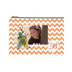 Cosmetic Bag (L): Orange Chevron - Cosmetic Bag (Large)