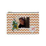 Cosmetic Bag (M): Orange Chevron - Cosmetic Bag (Medium)