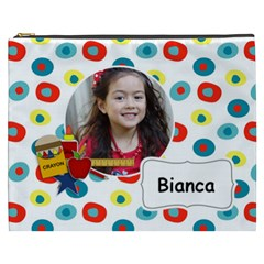 Cosmetic Bag (xxxl): School Stuff By Jennyl   Cosmetic Bag (xxxl)   Qzcg4baoioxz   Www Artscow Com Front
