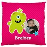 Large Cushion Case (Two Sides) : Monster 2