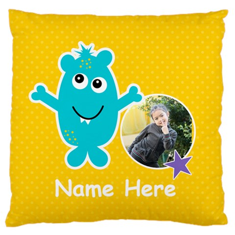 Large Cushion Case (one Side) : Monster 3 By Jennyl   Large Cushion Case (one Side)   1lsb7dcu7d54   Www Artscow Com Front