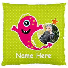 Large Cushion Case (two Sides) : Monster 4 By Jennyl   Large Cushion Case (two Sides)   5vzkcxcb9de7   Www Artscow Com Front