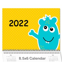 Wall Calendar 8 5 X 6: My Monsters By Jennyl   Wall Calendar 8 5  X 6    Pk9dwx76w47z   Www Artscow Com Cover