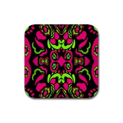 Psychedelic Retro Ornament Print Drink Coaster (square) by dflcprints