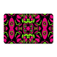 Psychedelic Retro Ornament Print Magnet (rectangular) by dflcprints