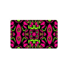 Psychedelic Retro Ornament Print Magnet (name Card) by dflcprints