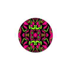 Psychedelic Retro Ornament Print Golf Ball Marker by dflcprints