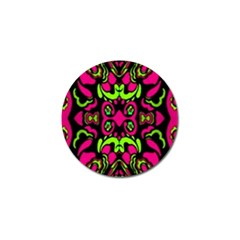 Psychedelic Retro Ornament Print Golf Ball Marker 4 Pack by dflcprints