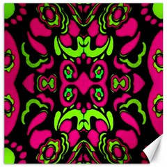 Psychedelic Retro Ornament Print Canvas 16  X 16  (unframed) by dflcprints