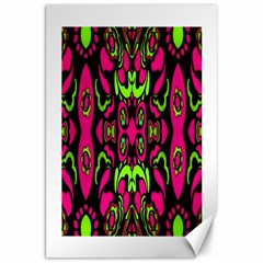 Psychedelic Retro Ornament Print Canvas 20  X 30  (unframed) by dflcprints