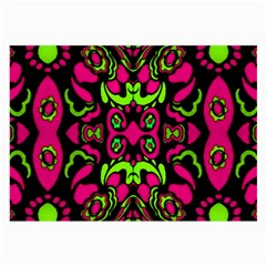Psychedelic Retro Ornament Print Glasses Cloth (large, Two Sided) by dflcprints