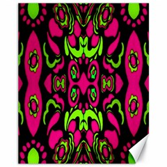 Psychedelic Retro Ornament Print Canvas 11  x 14  (Unframed) by dflcprints