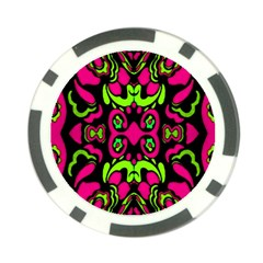 Psychedelic Retro Ornament Print Poker Chip by dflcprints
