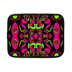Psychedelic Retro Ornament Print Netbook Sleeve (small) by dflcprints