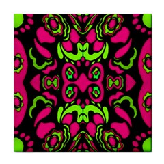 Psychedelic Retro Ornament Print Face Towel by dflcprints