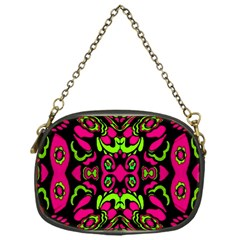Psychedelic Retro Ornament Print Chain Purse (one Side) by dflcprints