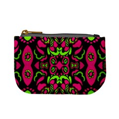 Psychedelic Retro Ornament Print Coin Change Purse by dflcprints