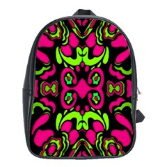Psychedelic Retro Ornament Print School Bag (large) by dflcprints