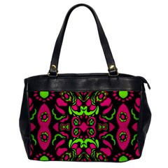 Psychedelic Retro Ornament Print Oversize Office Handbag (one Side) by dflcprints