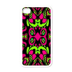 Psychedelic Retro Ornament Print Apple Iphone 4 Case (white) by dflcprints