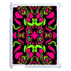 Psychedelic Retro Ornament Print Apple Ipad 2 Case (white) by dflcprints