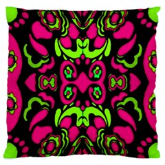 Psychedelic Retro Ornament Print Large Cushion Case (two Sided)  by dflcprints