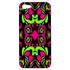 Psychedelic Retro Ornament Print Apple Iphone 5 Hardshell Case by dflcprints