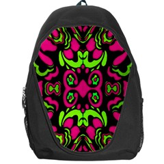 Psychedelic Retro Ornament Print Backpack Bag by dflcprints