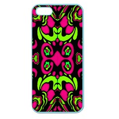 Psychedelic Retro Ornament Print Apple Seamless Iphone 5 Case (color) by dflcprints