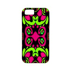 Psychedelic Retro Ornament Print Apple Iphone 5 Classic Hardshell Case (pc+silicone) by dflcprints