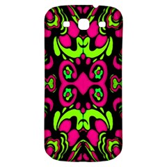 Psychedelic Retro Ornament Print Samsung Galaxy S3 S Iii Classic Hardshell Back Case by dflcprints
