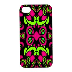 Psychedelic Retro Ornament Print Apple Iphone 4/4s Hardshell Case With Stand by dflcprints