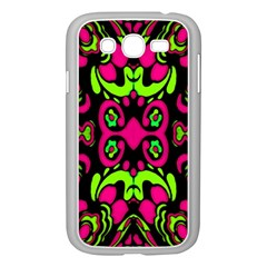 Psychedelic Retro Ornament Print Samsung Galaxy Grand Duos I9082 Case (white) by dflcprints