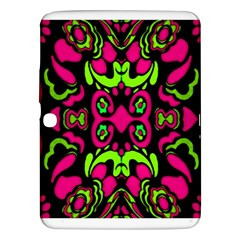 Psychedelic Retro Ornament Print Samsung Galaxy Tab 3 (10 1 ) P5200 Hardshell Case  by dflcprints