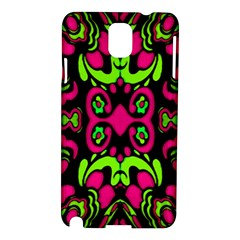 Psychedelic Retro Ornament Print Samsung Galaxy Note 3 N9005 Hardshell Case by dflcprints