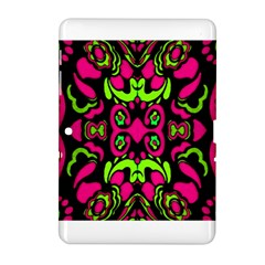 Psychedelic Retro Ornament Print Samsung Galaxy Tab 2 (10 1 ) P5100 Hardshell Case  by dflcprints