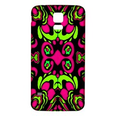 Psychedelic Retro Ornament Print Samsung Galaxy S5 Back Case (white) by dflcprints
