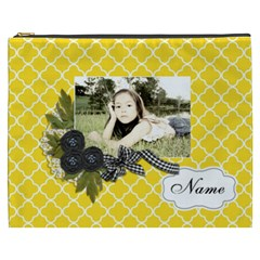 Cosmetic Bag (xxxl): Black Ribbon By Jennyl   Cosmetic Bag (xxxl)   5uw50prd8le9   Www Artscow Com Front