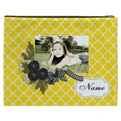 Cosmetic Bag (xxxl): Black Ribbon By Jennyl   Cosmetic Bag (xxxl)   5uw50prd8le9   Www Artscow Com Back