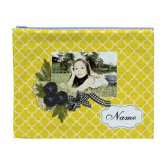 Cosmetic Bag (xl): Black Ribbon By Jennyl   Cosmetic Bag (xl)   X00tpitnlmge   Www Artscow Com Front