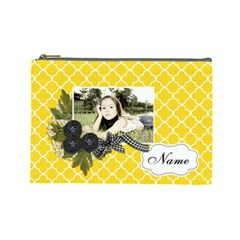 Cosmetic Bag (l): Black Ribbon By Jennyl   Cosmetic Bag (large)   Xflk4x0idixq   Www Artscow Com Front