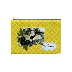 Cosmetic Bag (m): Black Ribbon By Jennyl   Cosmetic Bag (medium)   7afg3r15065i   Www Artscow Com Front